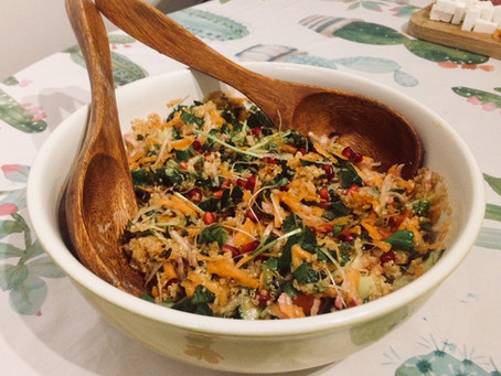 Quinoa spring salad