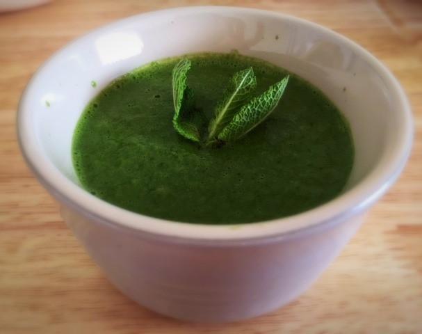 Homemade vegan basil pesto