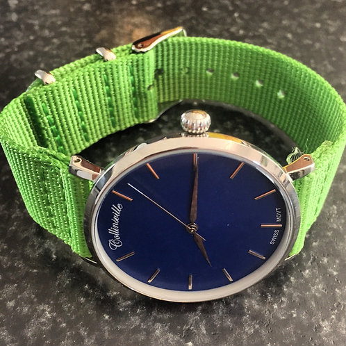 Simply Swiss Blue Dial - Toxic Green