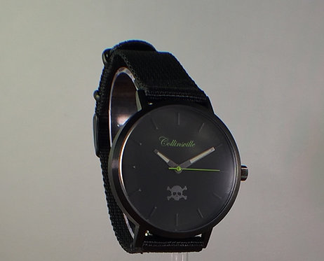 Black Out with Black Nylon Strap