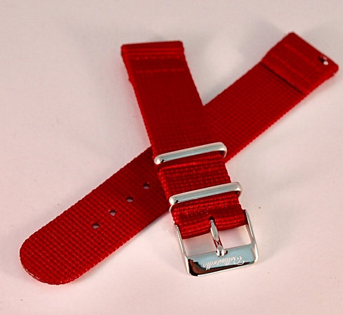 Red 18mm Quick Release Nylon Strap