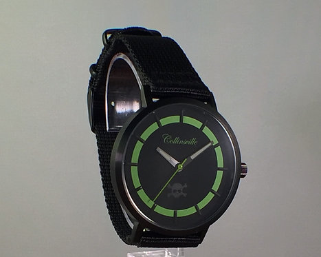 Toxic Black Out with Black Nylon Strap