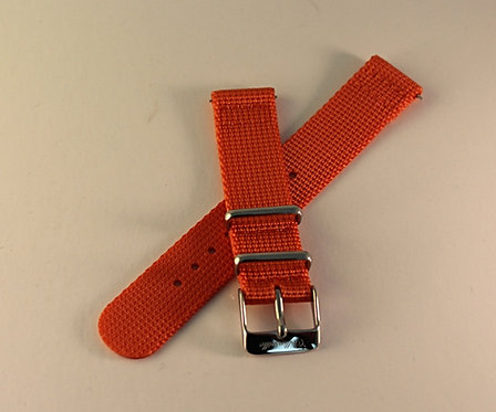 Atomic Orange 18mm Quick Release Nylon Strap