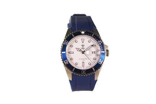 Blue Marina Watch with Silicone Strap #5191