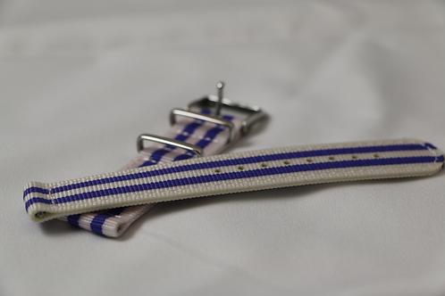 Purple/White 20mm Quick Release Nylon Band