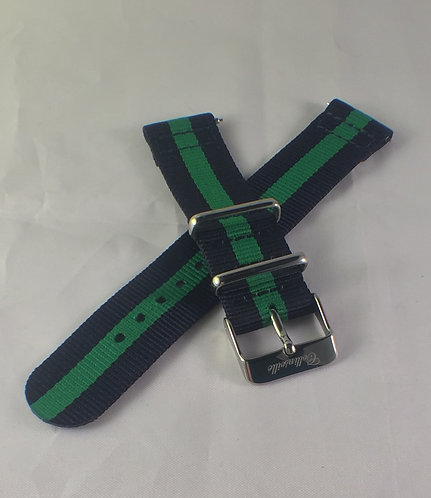 Green and Navy 20mm Quick Release Strap