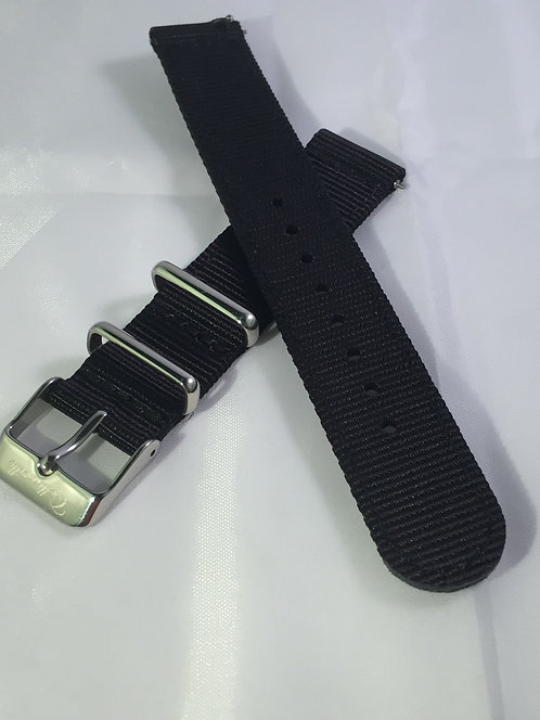 Tactical Black 18mm Quick Release Nylon Band