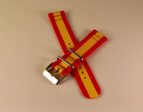 Red and Gold 20mm Quick Release Strap