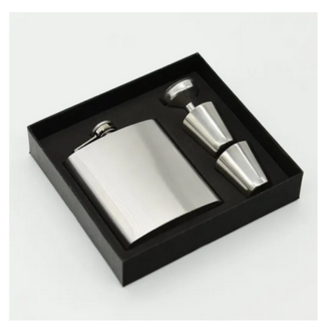 TOP GRADE MATERIALS - Classic standard 8 oz Hip Flask with FREE funnel included.