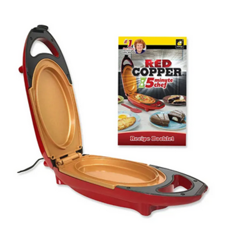 RED COPPER DOUBLE-COATED 5 MINUTE CHEF ELECTRIC COOKER