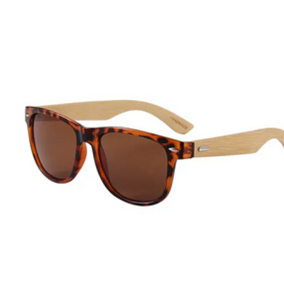 BAMBOO SUNGLASSES WITH ROUND CASE