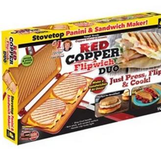 RED COPPER DUAL PANINI MAKER