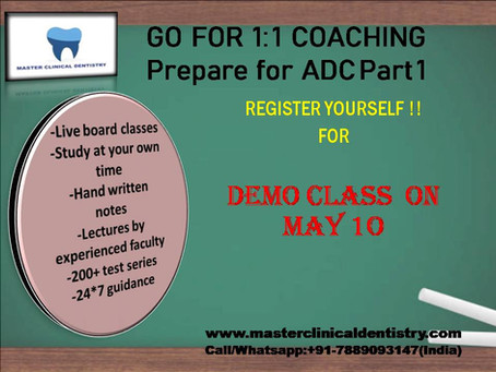 PULL YOUR SOCKS UP !! GO FOR LEARNING FOR ADC PART 1 WITH  ONLINE DENTAL PROGRAMS