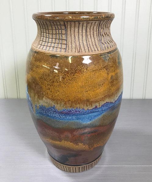 Decorative Pottery Vase, Tall Vase, Flower Vase, Vase for Utensils