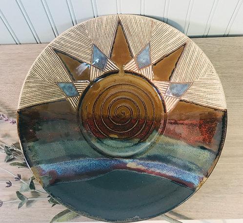 Pottery Wall Art, Decorative Pottery, Shallow Bowl