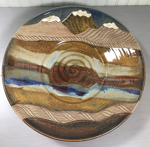 Shallow Bowl, Wall Art, Decorative Bowl, Nature Inspired, Fruit Bowl