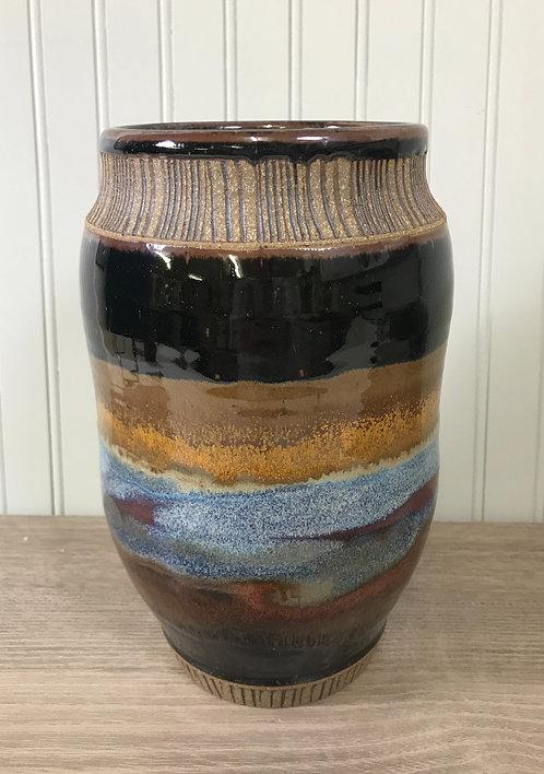 Decorative Pottery Vase, Handmade Vase, Black Vase