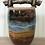 Thumbnail: Decorative Pottery Vase , Nature Inspired Vase, Black with Blue Vase