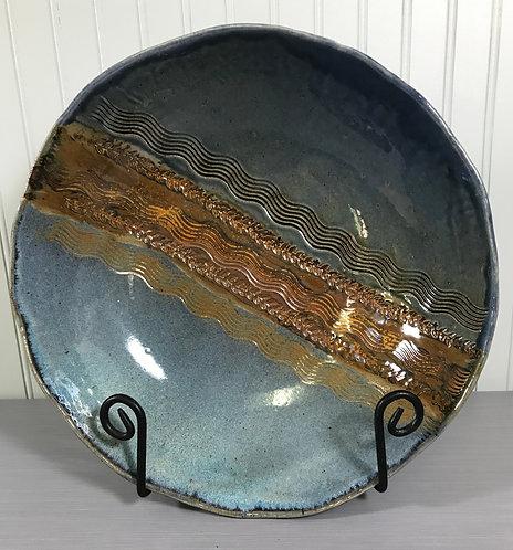 Large Fruit Bowl, Blue Bowl, Bowl For Serving, Decorative Bowl