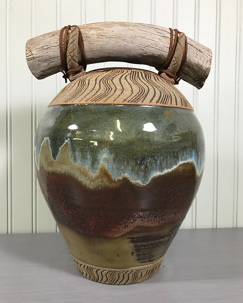 Handmade Pottery Vase, Decorative Vase, Nature Inspired Vase, Mantel Vase