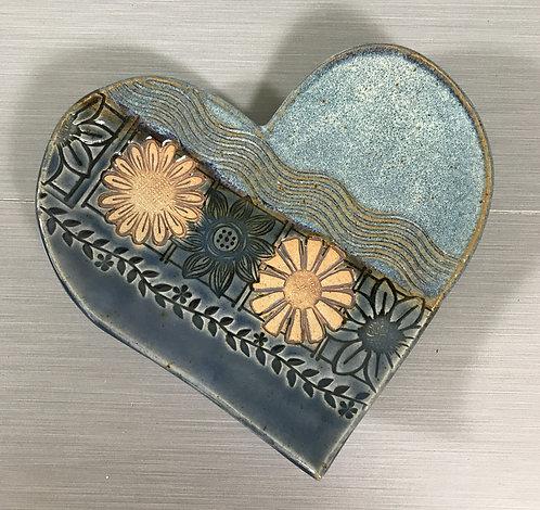Ceramic Heart Dish, Trinket Dish, Ring & Jewelry Holder