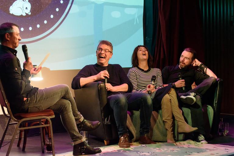 Gearoid Farrelly with Julian Clancy, Colette Kinsella, Collie Ennis
