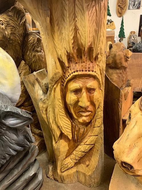 Cedar Native American Face