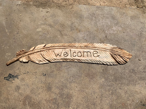Welcome 4' feather