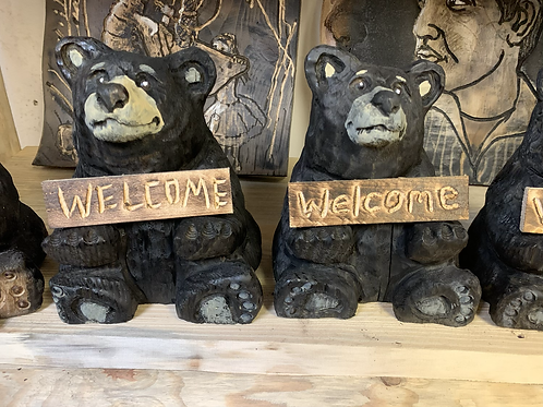 "10"" Sitting Welcome Bear"