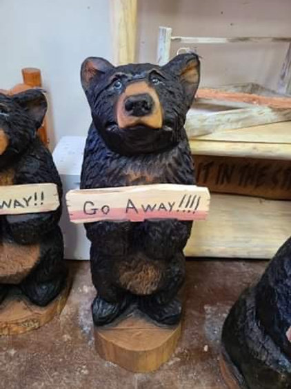 "39"" Welcome/Go Away Bear"