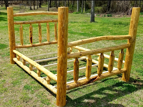 Pine Queen Log Bed