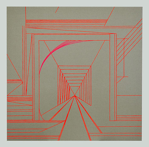 Pontelagoscuro (acrylic on canvas, 80X80
