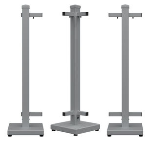 modular removable sidewalk restaurant fence stands