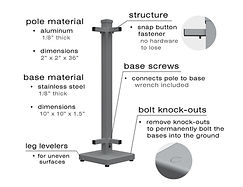 Details and specifications of the SelectSpace regular stands