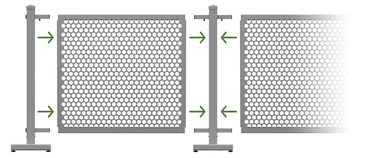 quick easy to assemble and disassemble oudoor barrier fence barricade