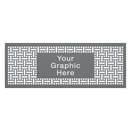 7' Graphic Partition Panel- Square Weave