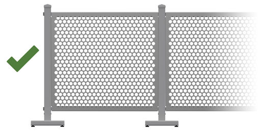 easy modular temporary outdoor fence barrier