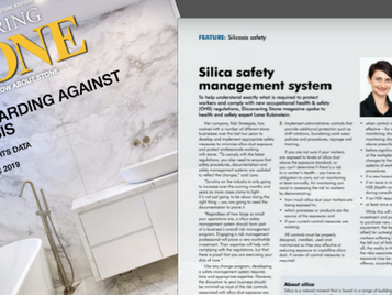 Silica Safety Management –Discovering Stone Magazine