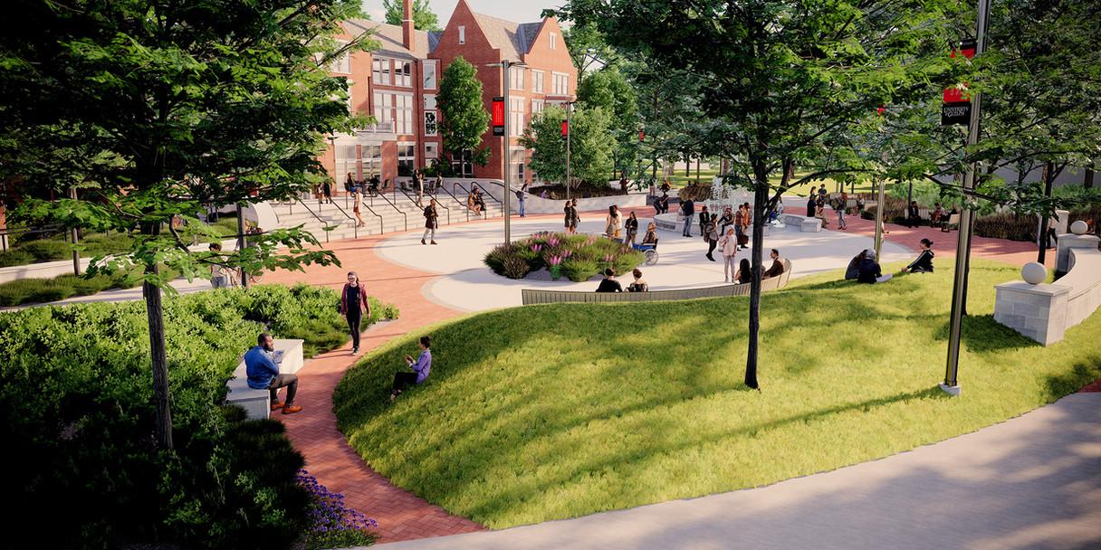 Lang Plaza Footpath
