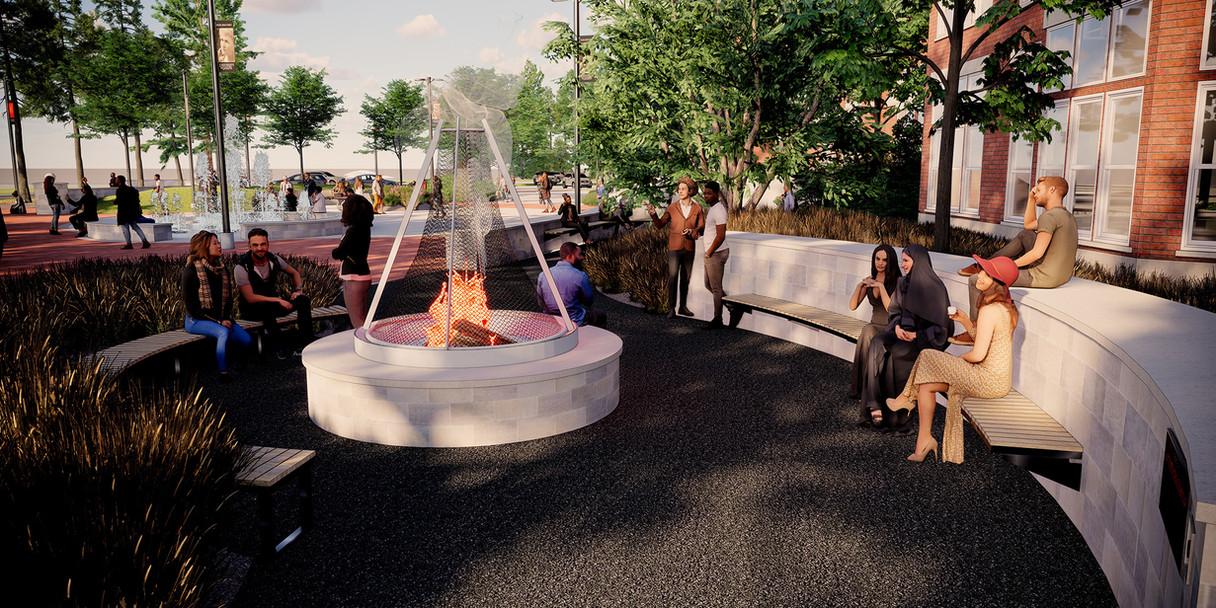Lang Plaza Fire Circle