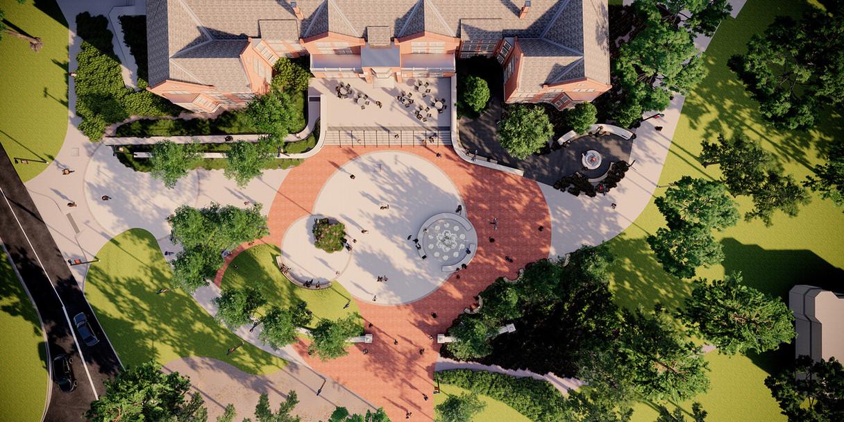 Lang Plaza Aerial View
