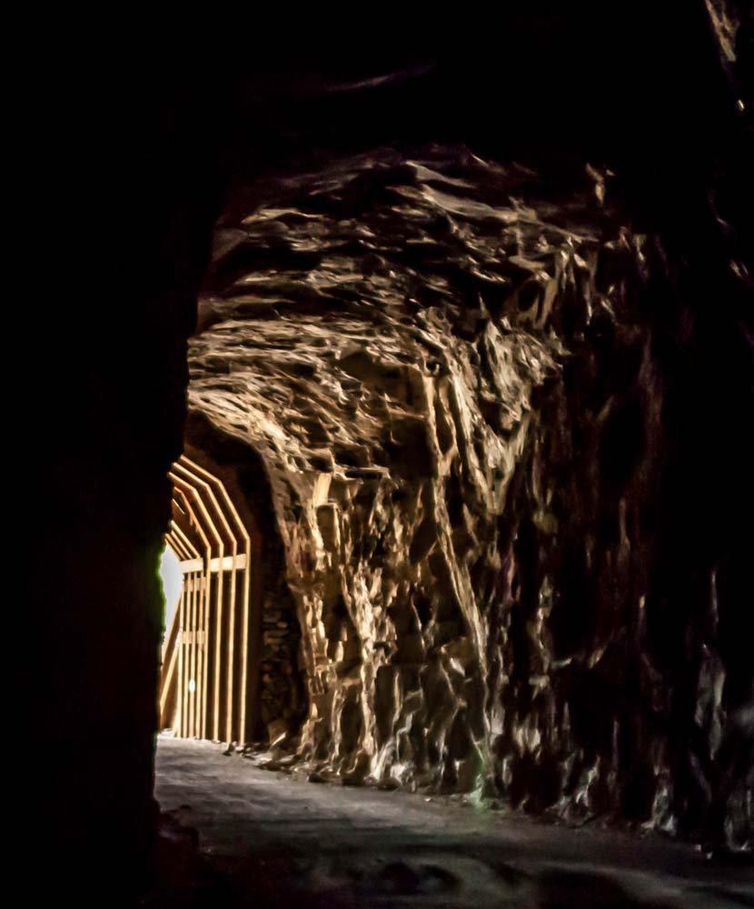 Historic mountain railroad tunnel  near Kelowna BC