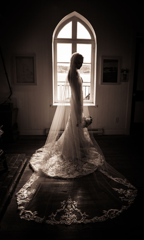 Silohetted Bride