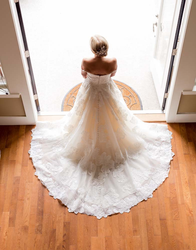 Wedding dress from above