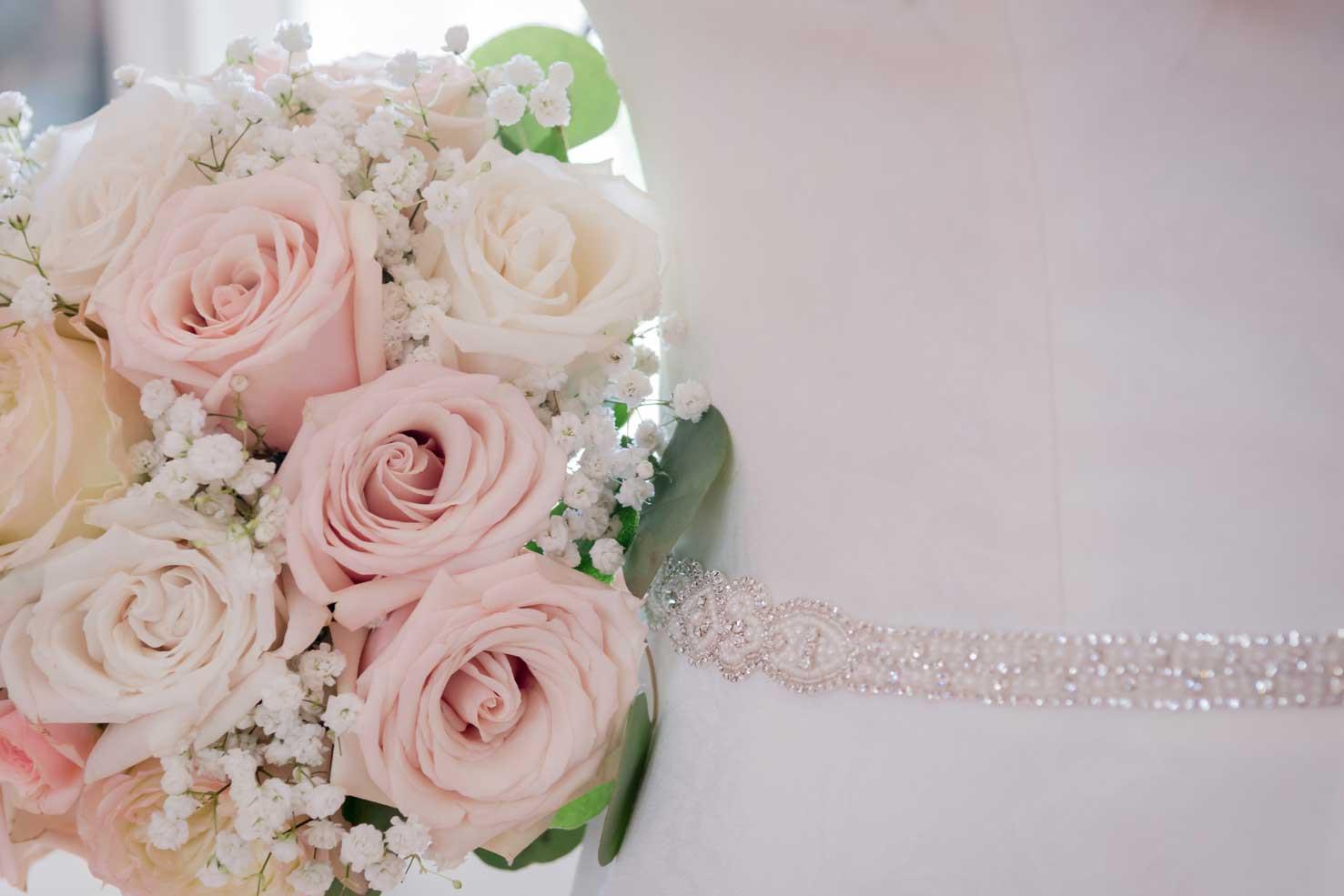 bridal bouquette & dress