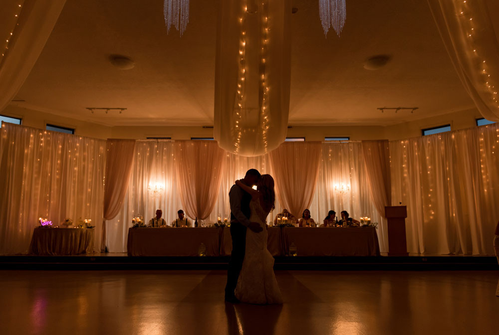 silohetted first dance