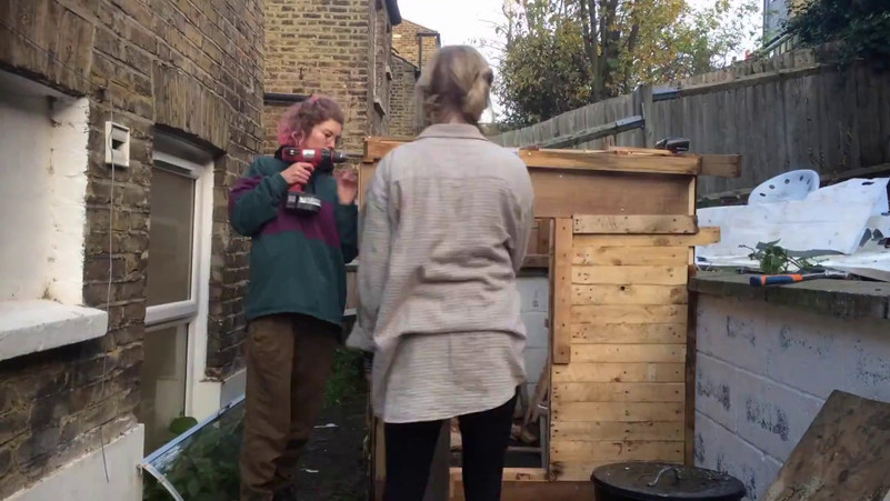 In order to escape London without leaving the city, we built a shed in a Lewisham garden. We found adventure in our local area by sourcing all materials from within a 1mile radius, and used only hand tools, and worked without drawings, in order for the materials and shared thoughts to direct the build.