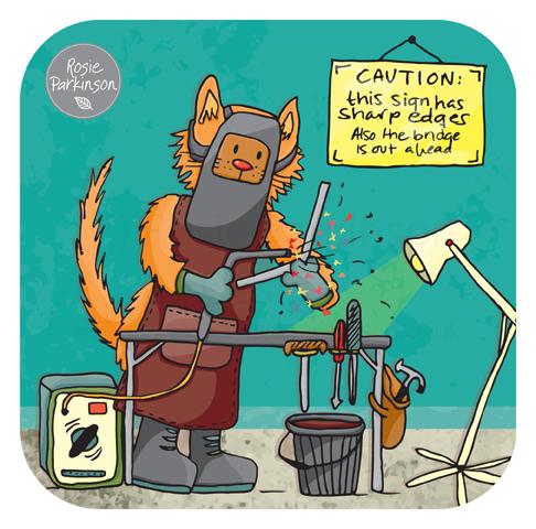 Welding Cat