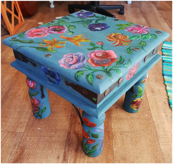 Hand Painted Floral Table