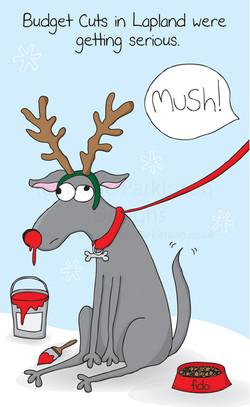 mush rudolf dog